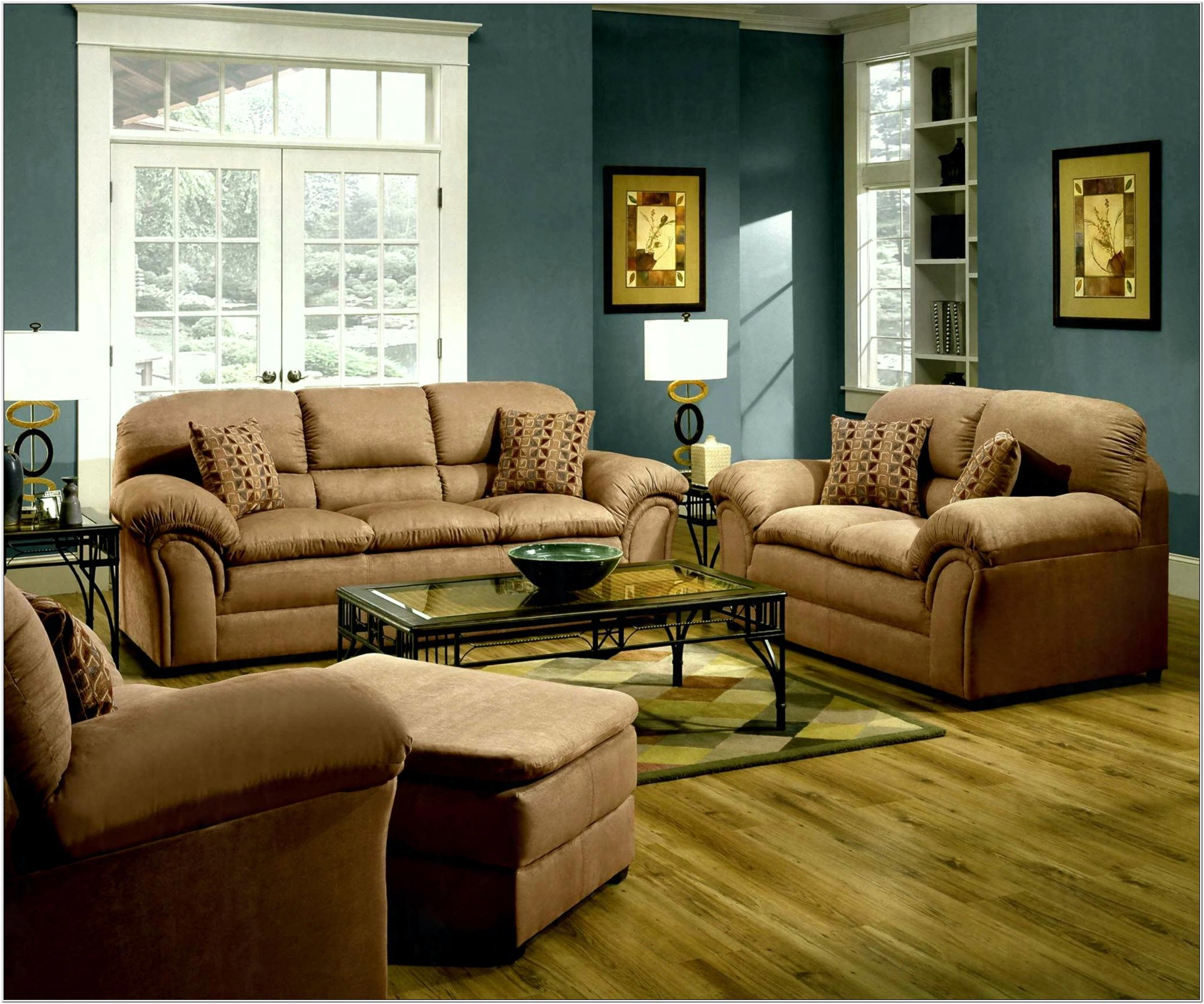 Decorating Living Room With Brown Leather Furniture