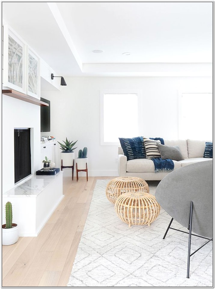 Decorating White Living Room Walls
