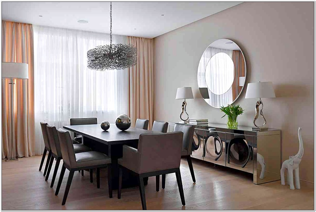 Decorating With Two Mirrors In Living Room