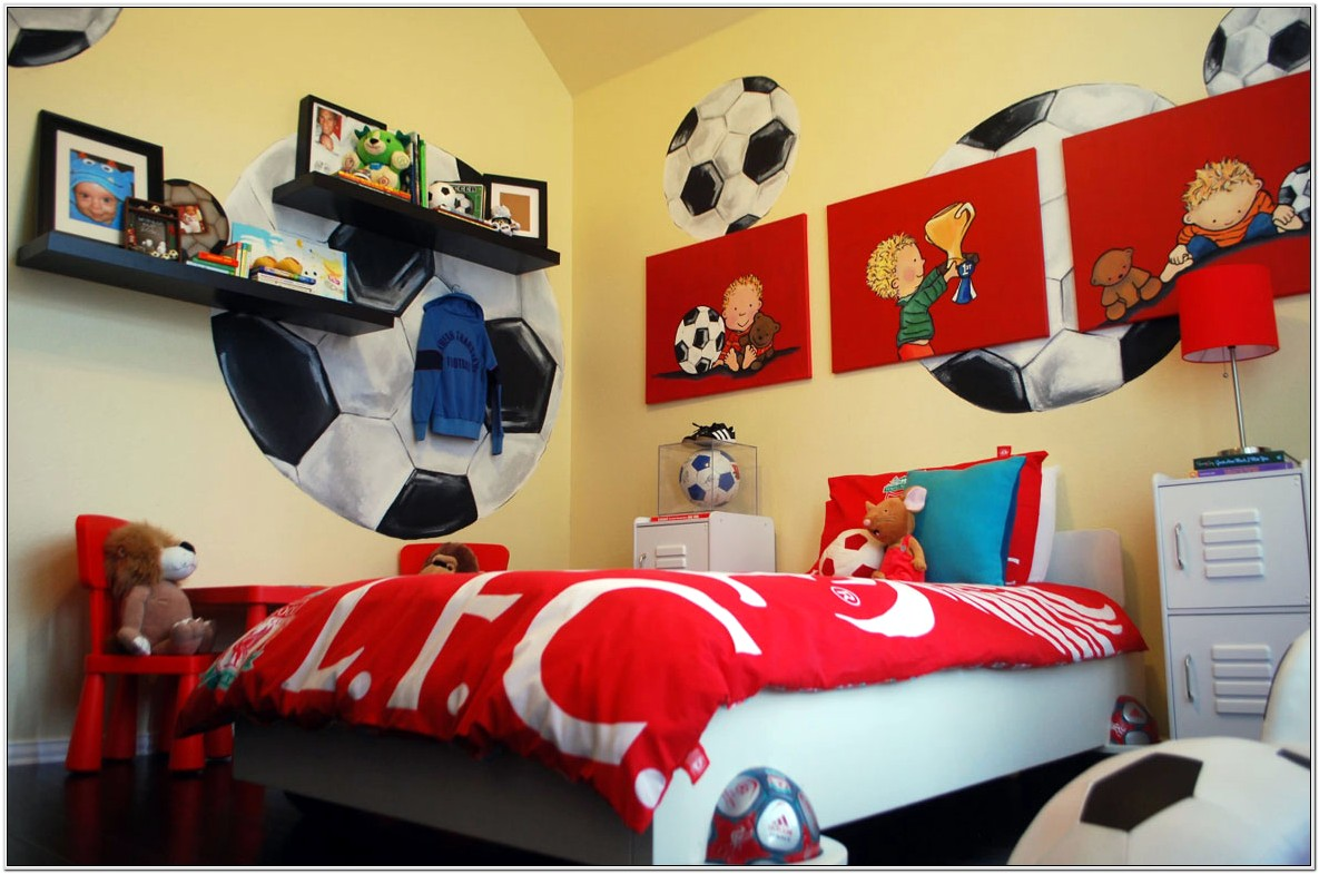 Decoration For Boys Bedroom Bssketball Theme