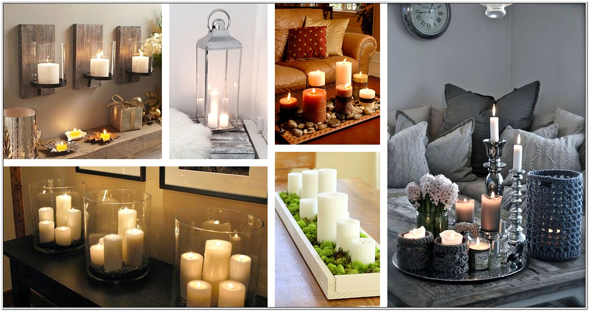 Decoration With Candals At Living Room
