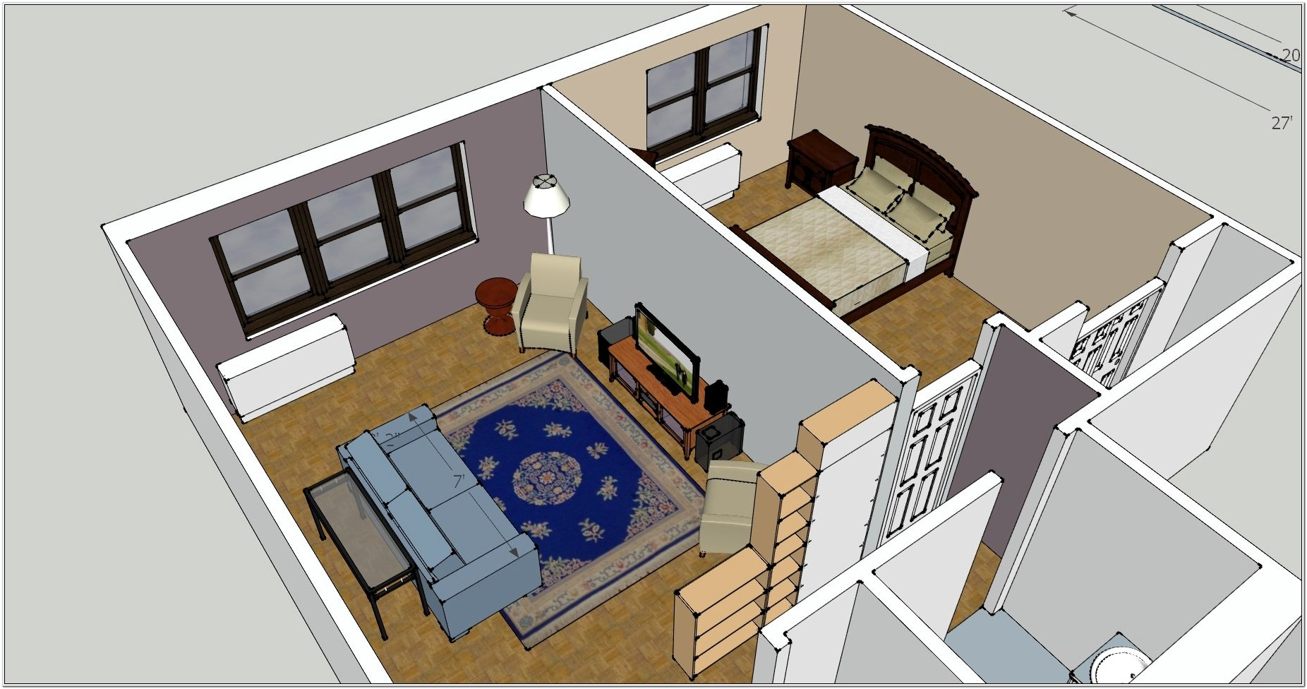 Design Living Room With Dimensions