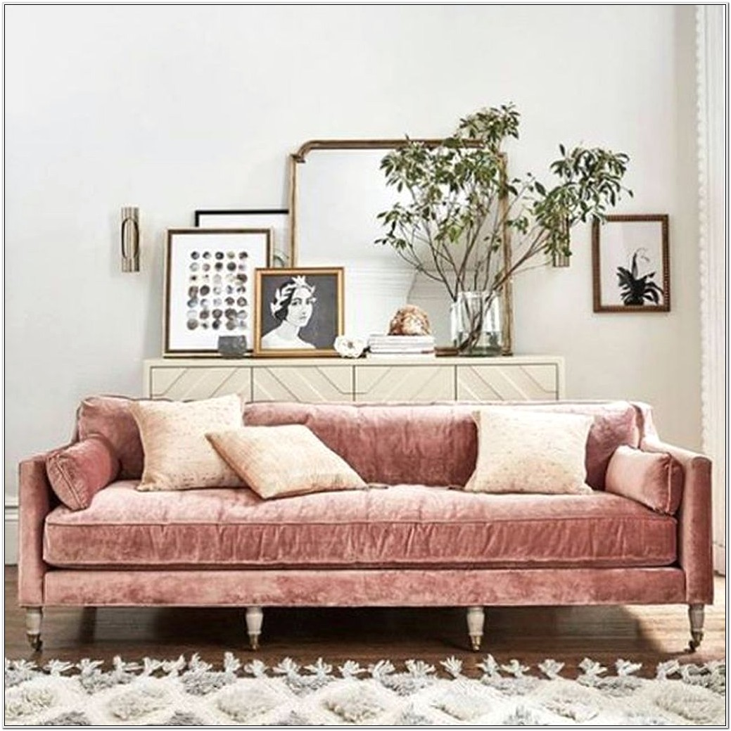 Dusty Pink Living Room Decor