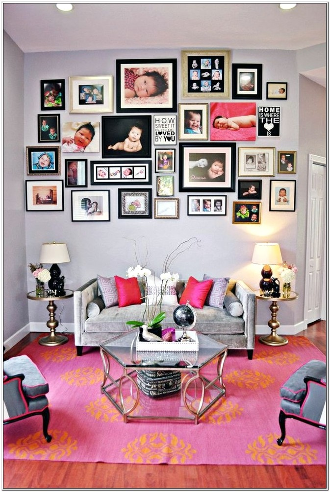 Family Collage Frame In Living Room Ideas