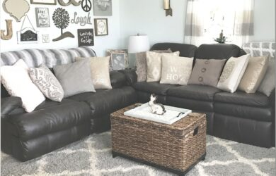Farmouse Rustic Living Room Design Brown Couch