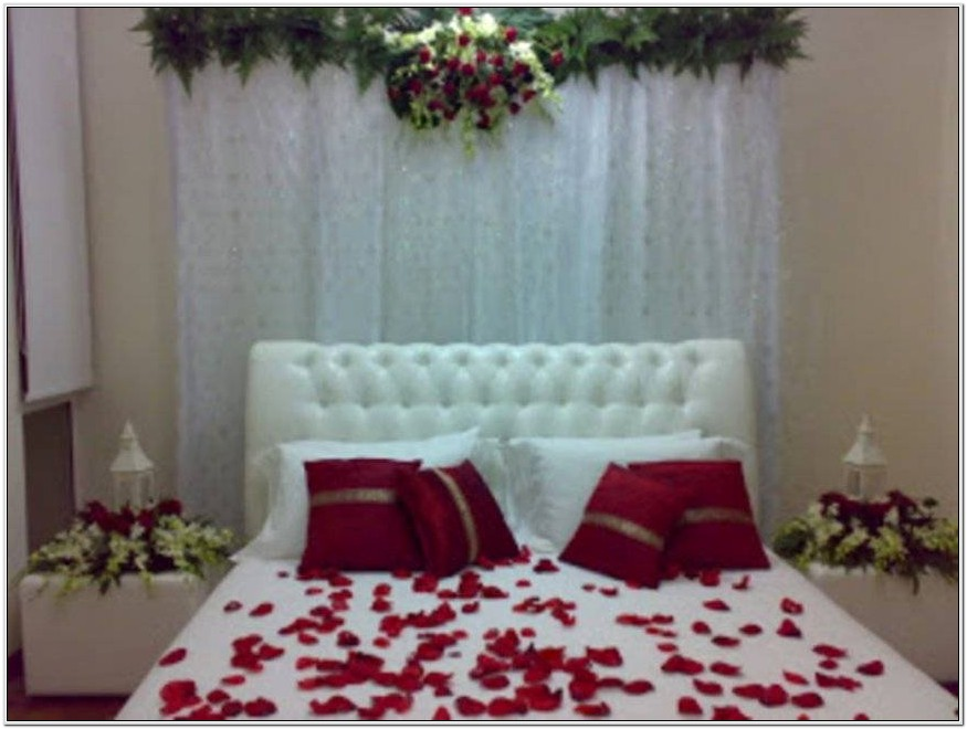 First Night Bedroom Decoration Simple