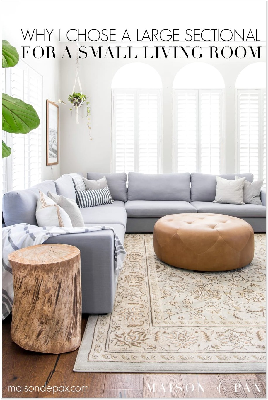 Floating Sectional In Small Living Room