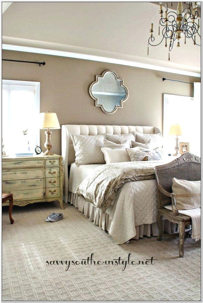 French Country Blue Bedroom Decor