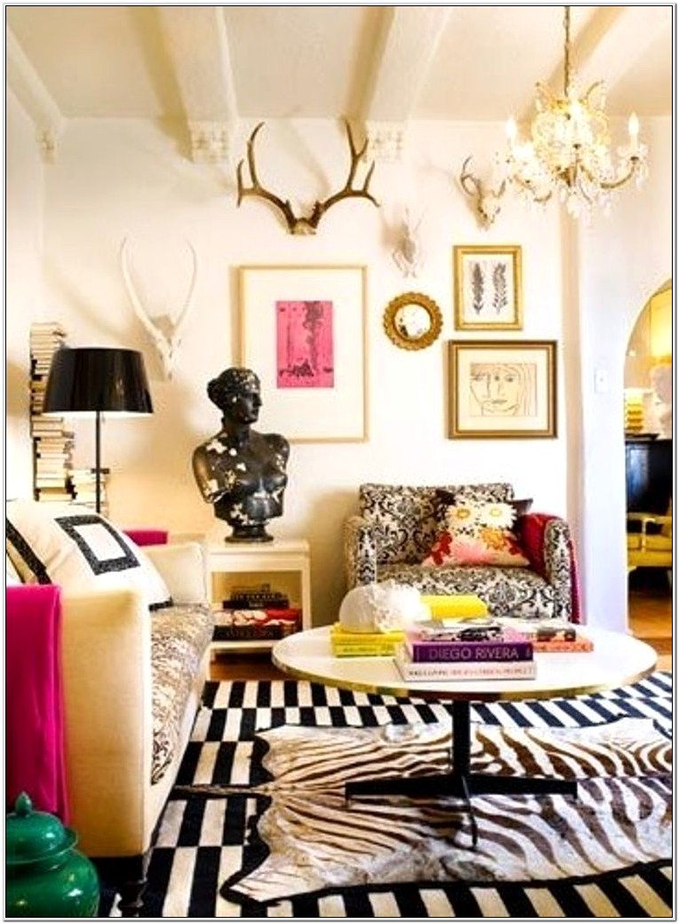 Funky Hip Decor Styles For Living Room