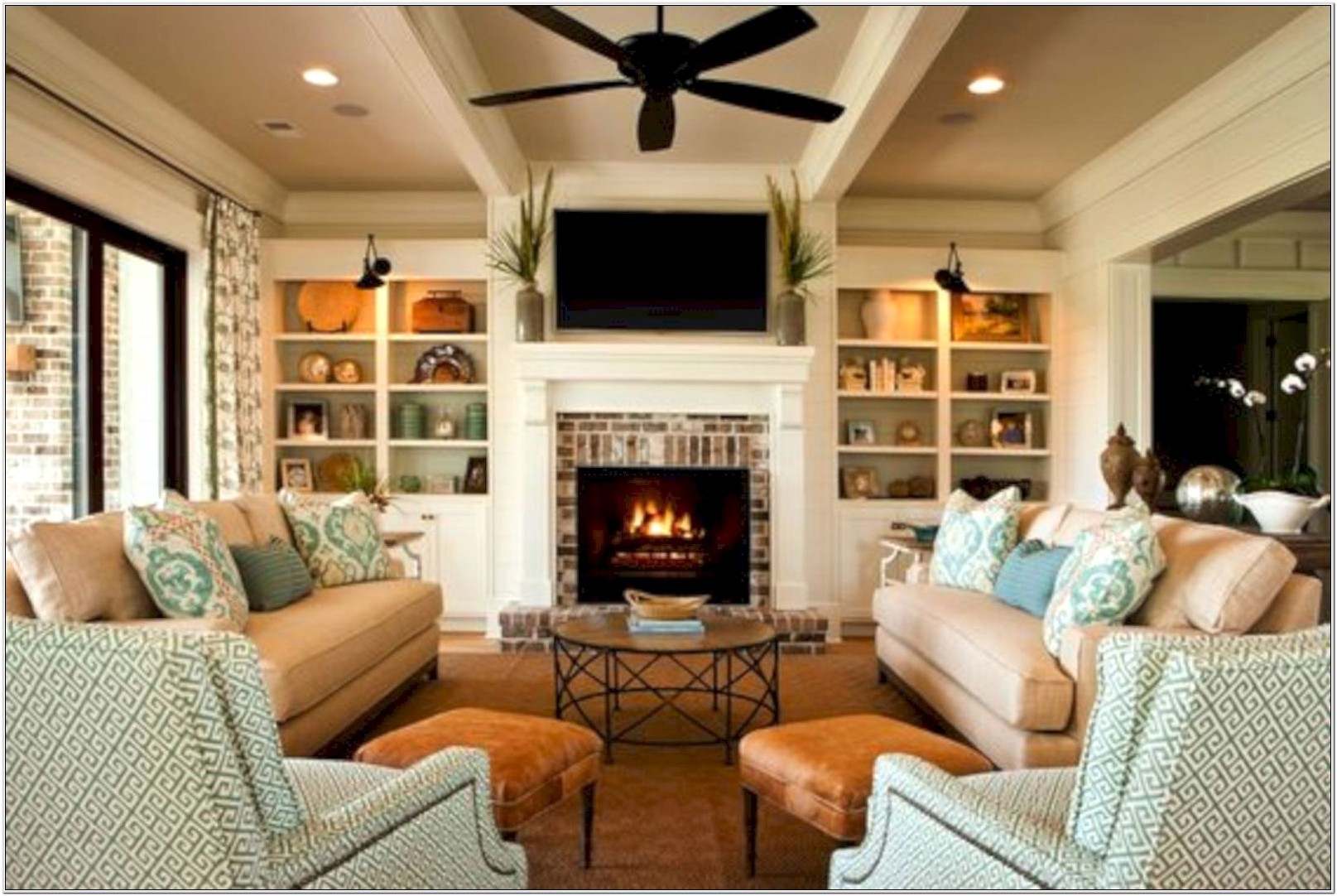 Furniture Layout Ideas Living Room Fireplace