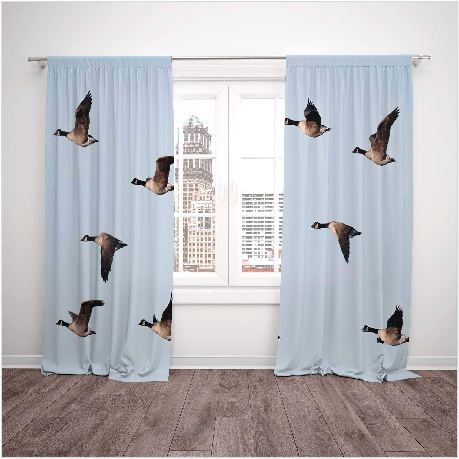 Geese Curtains Living Room Design