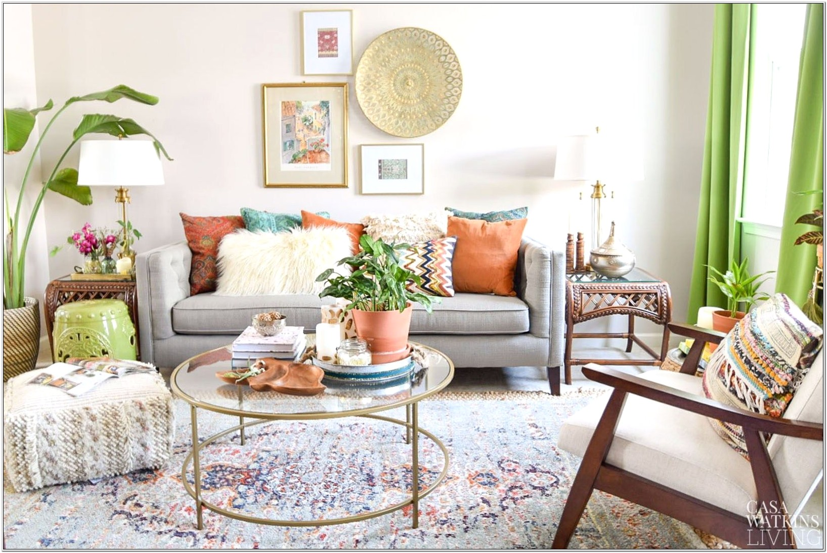 Global Style Living Room Ideas