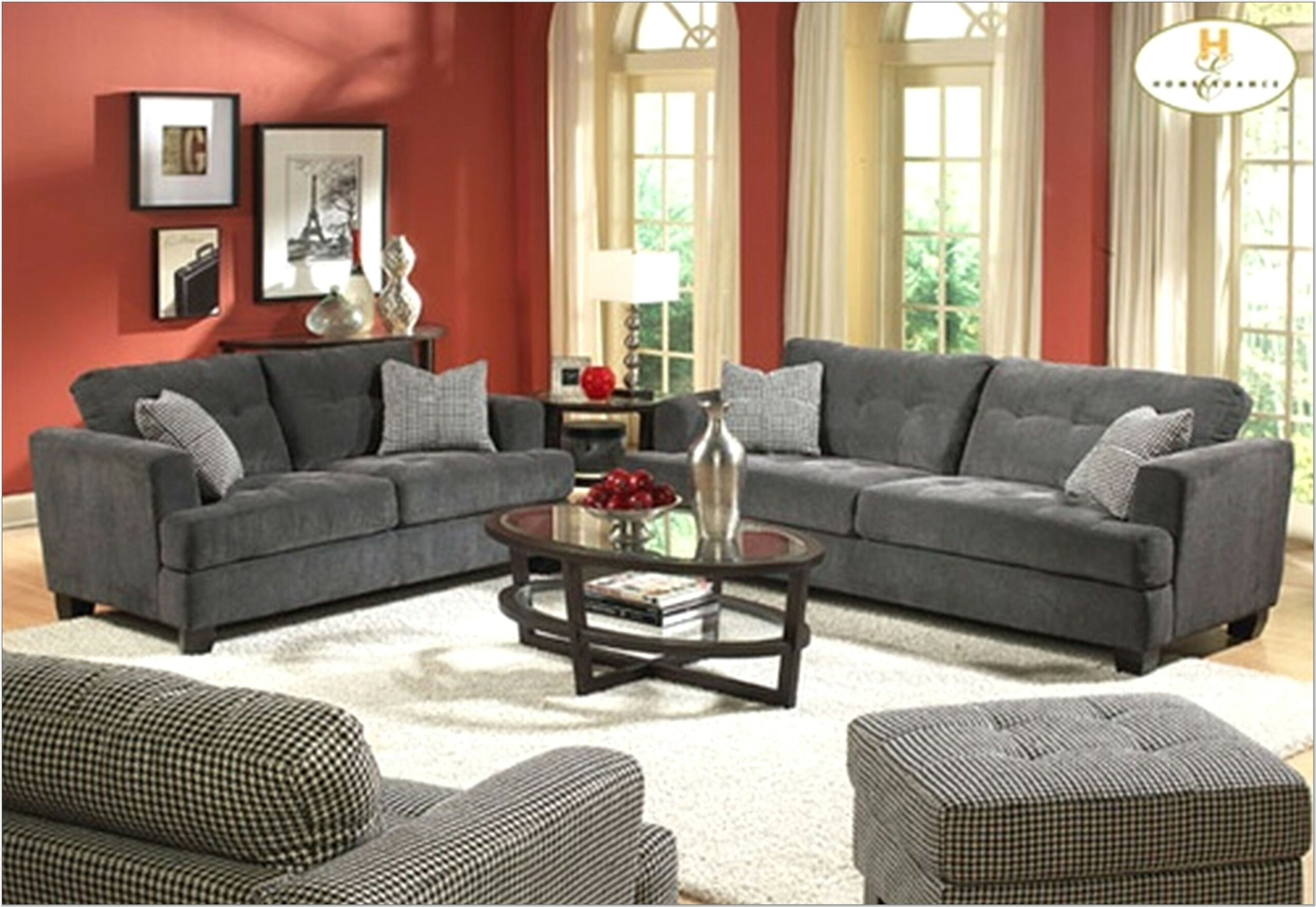 Gray And Red Living Room Ideas