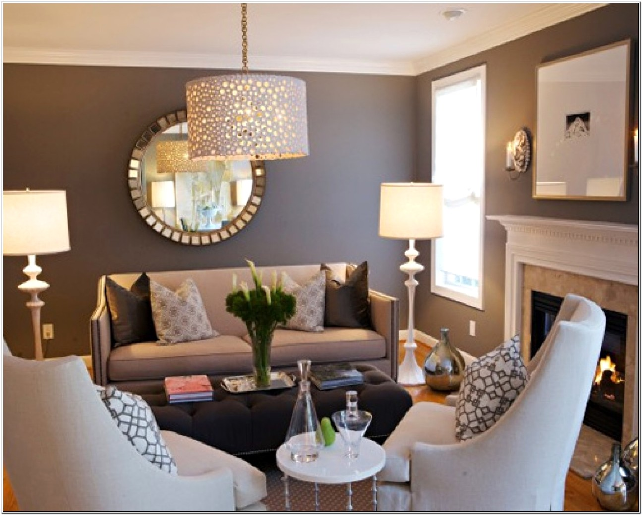 Gray Brown Living Room Decor