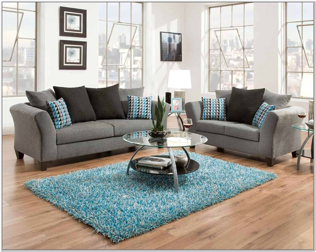 Gray Couch And Loveseat Living Room Design