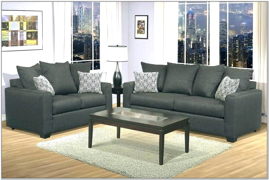 Gray Leather Reclining Living Room Set