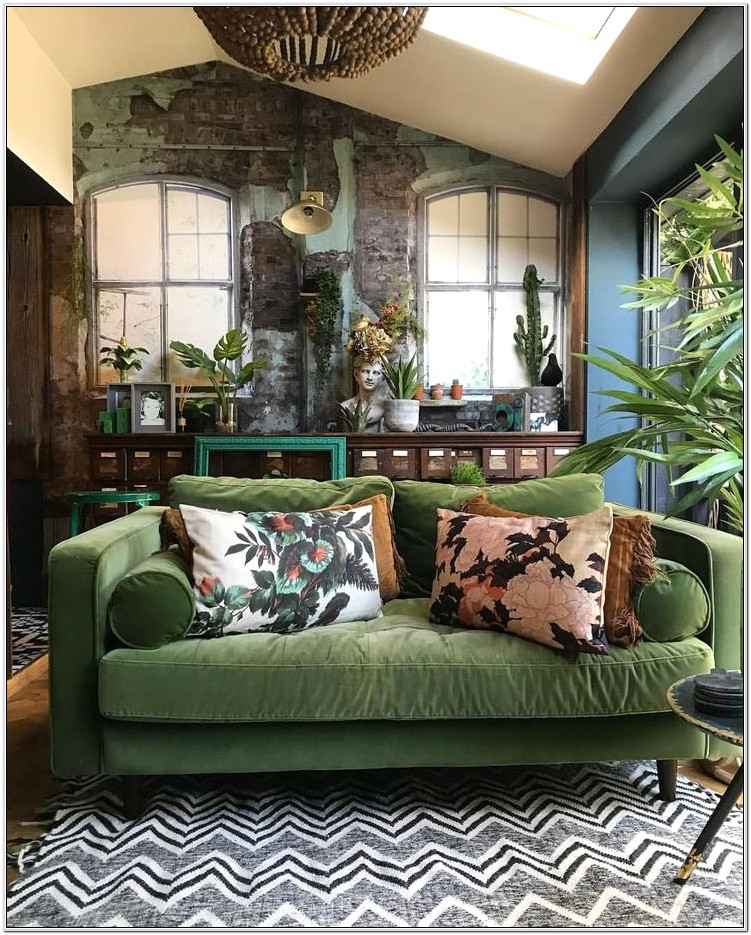 Green Couch Living Room Decor
