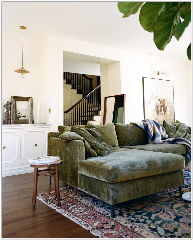 Green Couch Living Room Design