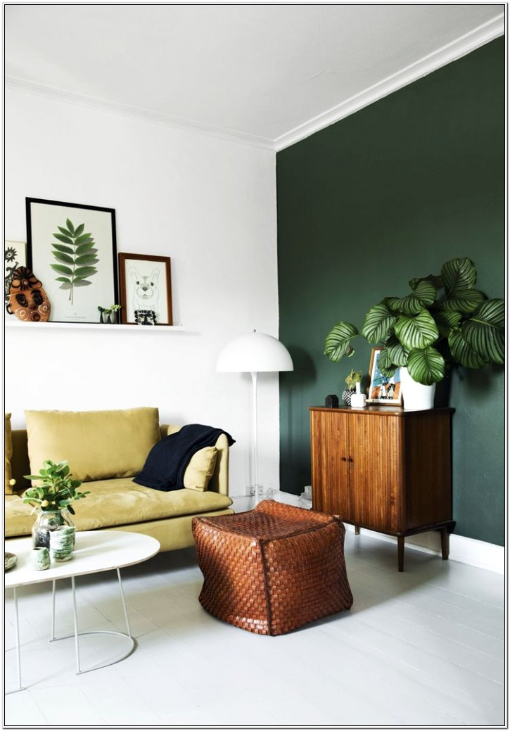Green Living Room Walls Small Space