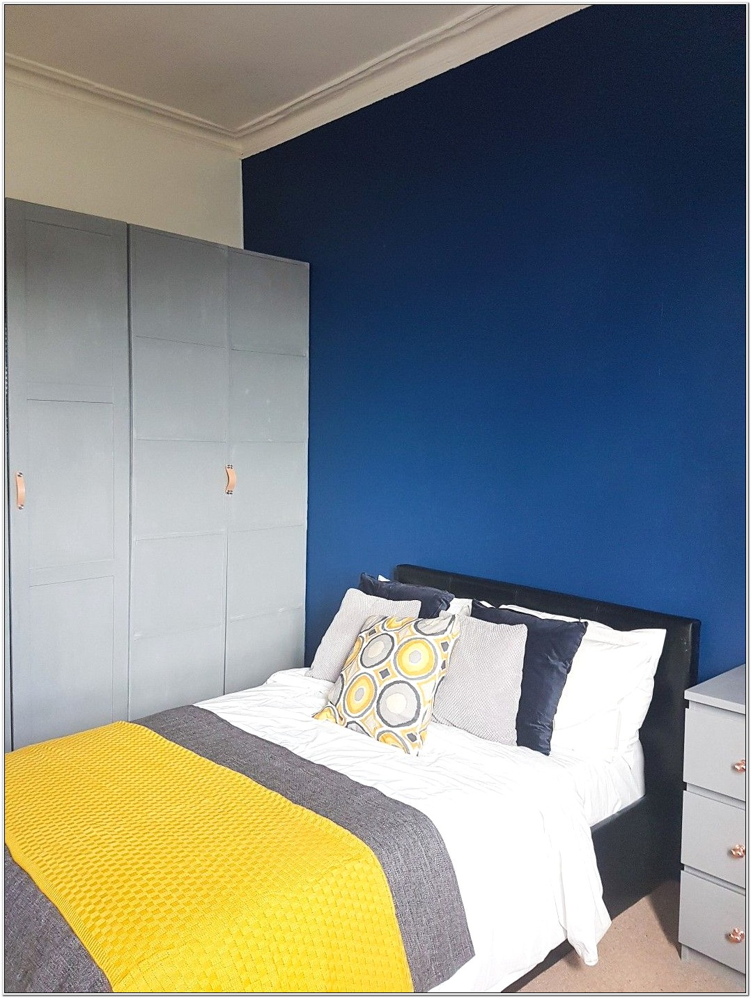 Grey And Mustard Bedroom Decor
