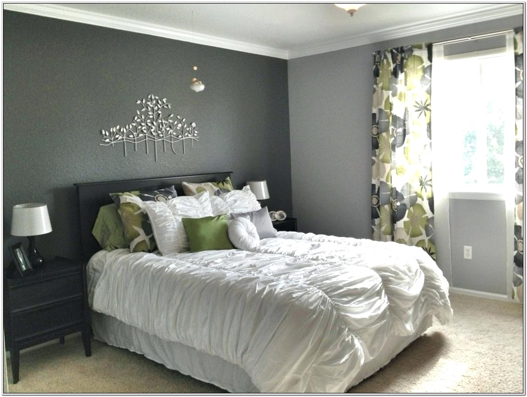 Grey And Orange Bedroom Decor