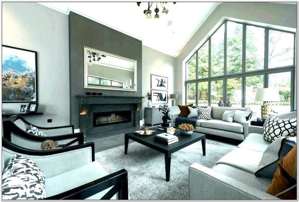 Grey And White Small Living Room Decor