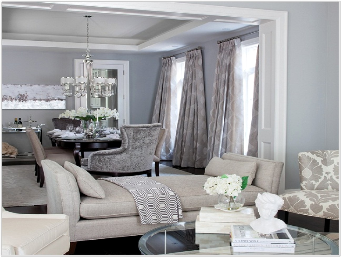 Grey Traditional Living Room Ideas