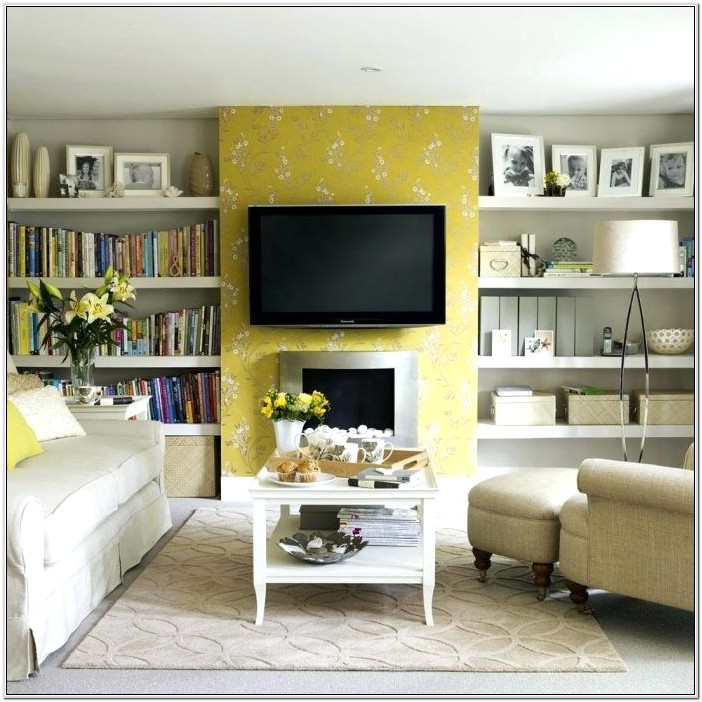 Grey White And Yellow Living Room Ideas