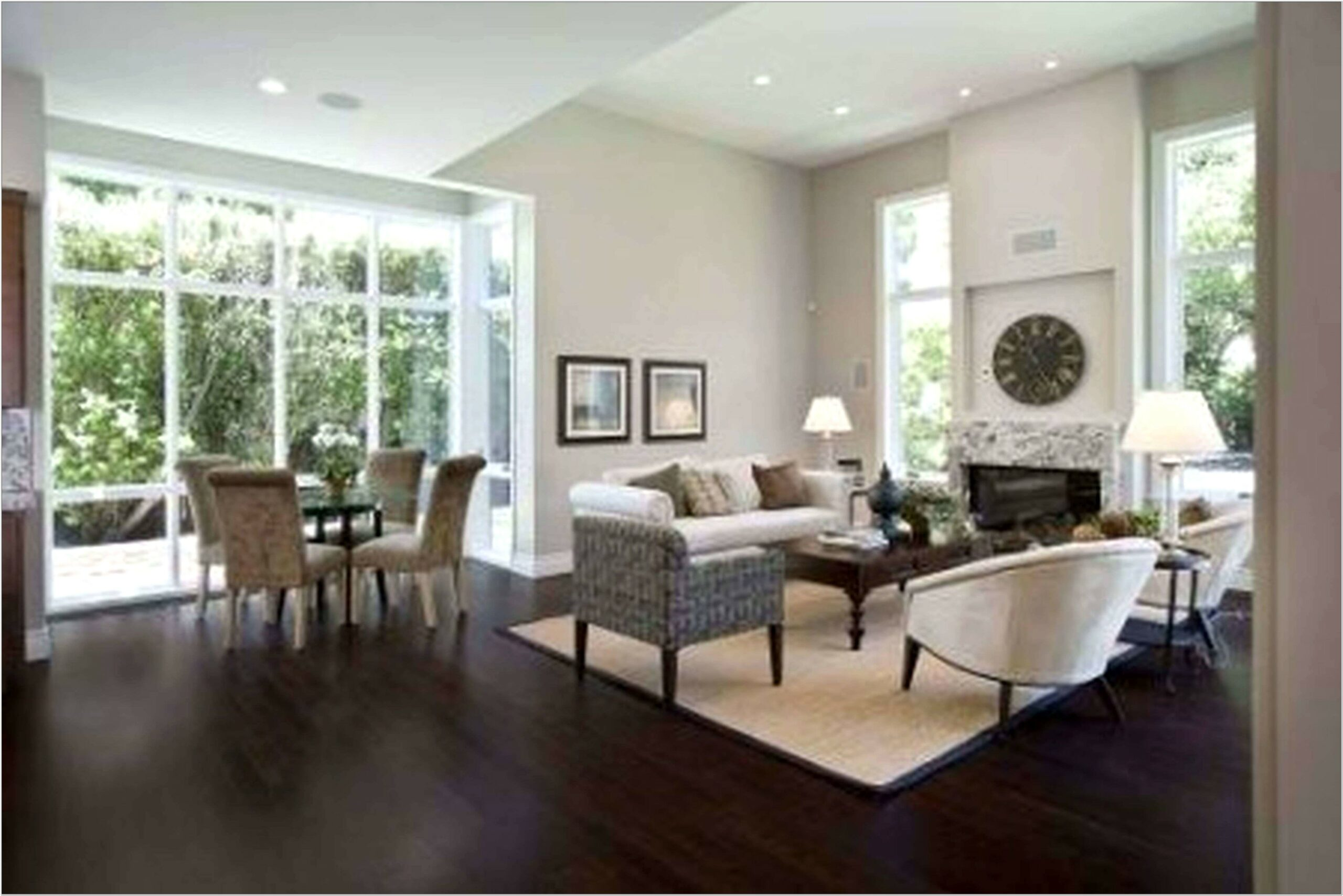 Hardwood Living Room Floor Ideas