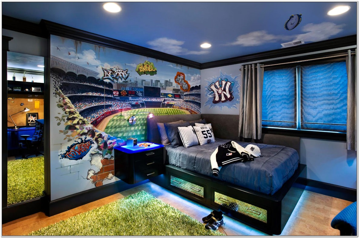 Ideas For Sports Decorate Bedroom