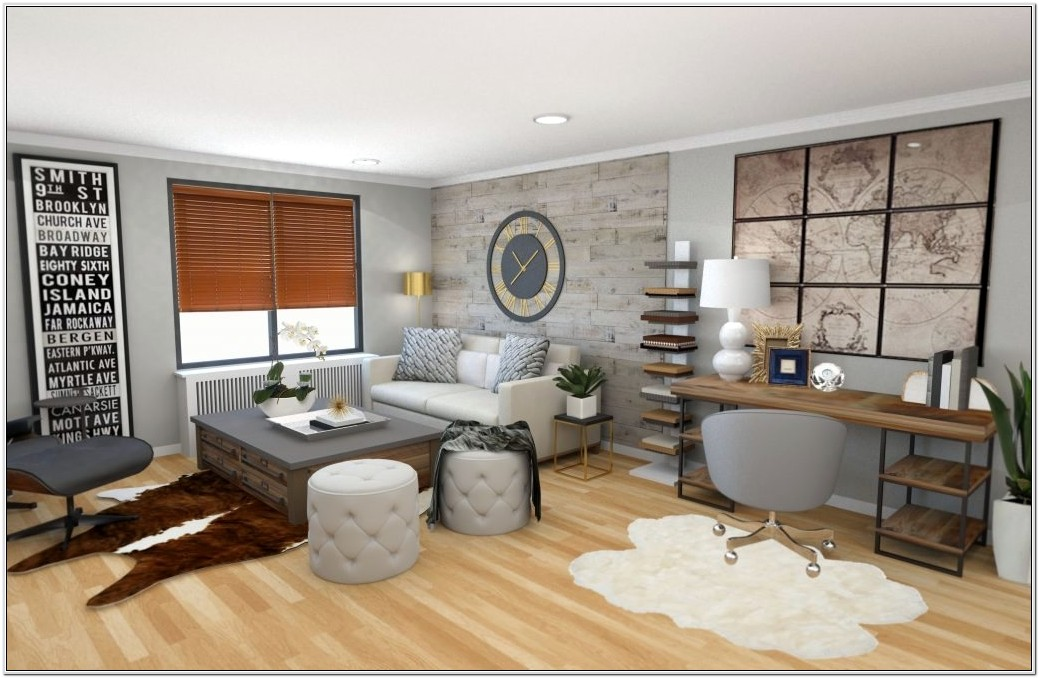 Industrial And Eclectic Living Room Design