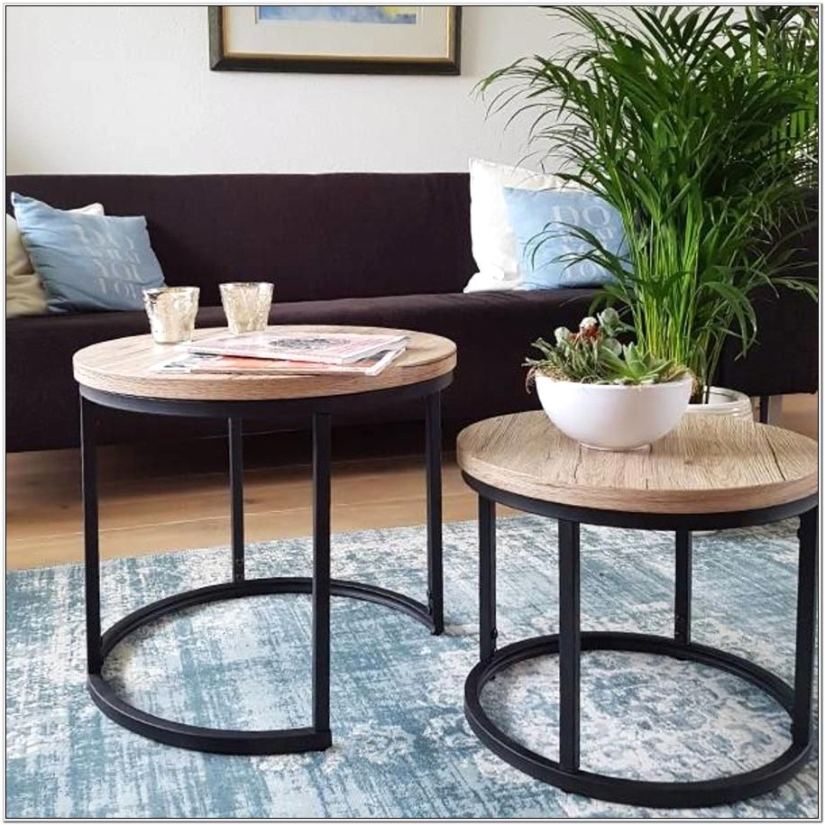 Industrial Living Room Table Set