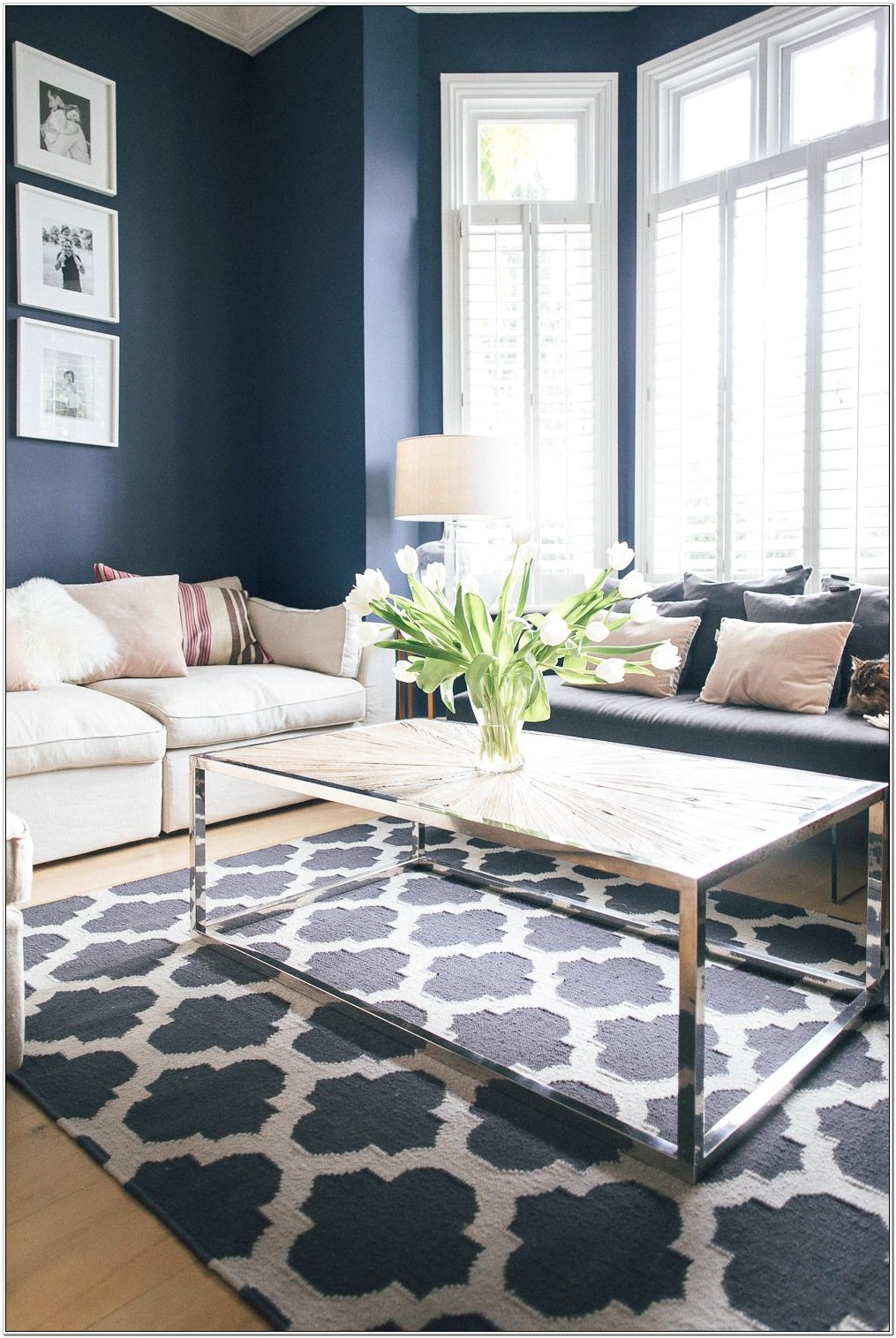 Inexpensive Blue And White Living Room Sets