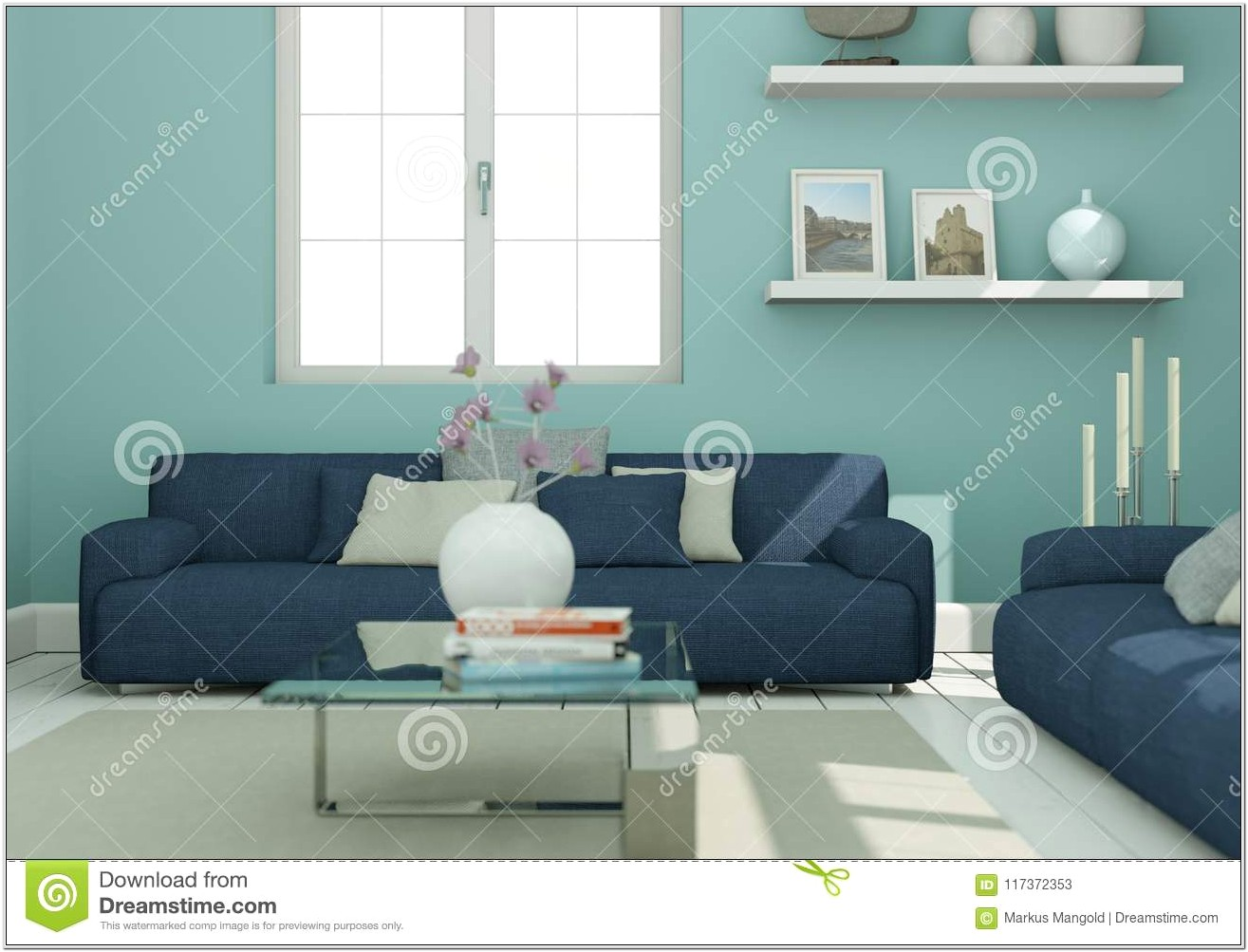Interior Design Blue Couch Living Room