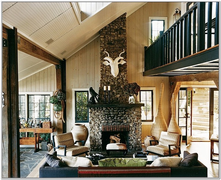 Lake House Living Room Design