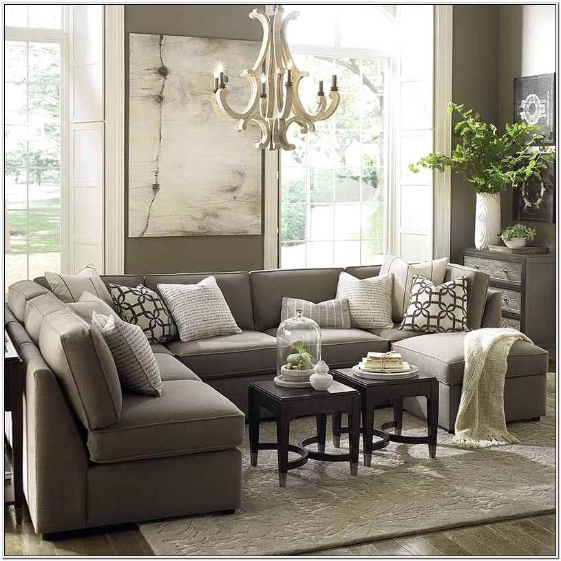 Large Gray Sectional Living Room Decor