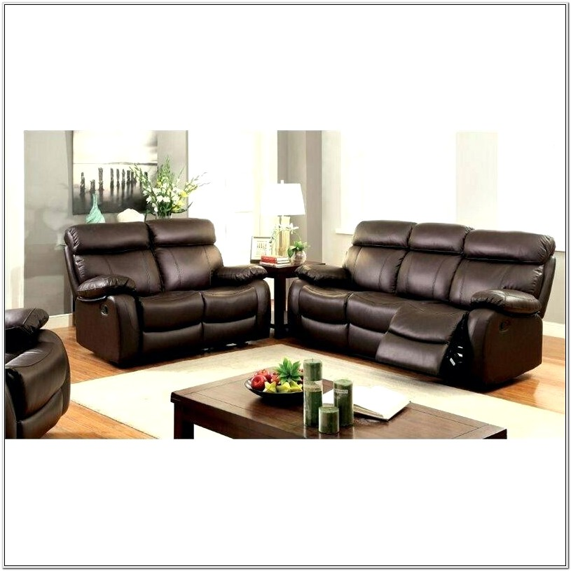 Leather Living Room Recliners Set