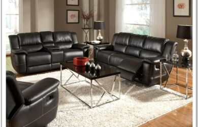 Leather Recling Living Room Set