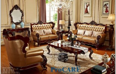 Leather Red Living Room Set