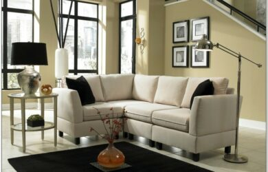 Light Blue Leather Living Room Set