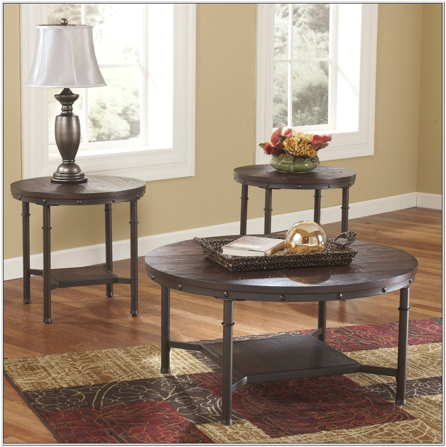 Living Room 3 Piece Industrial Table Sets