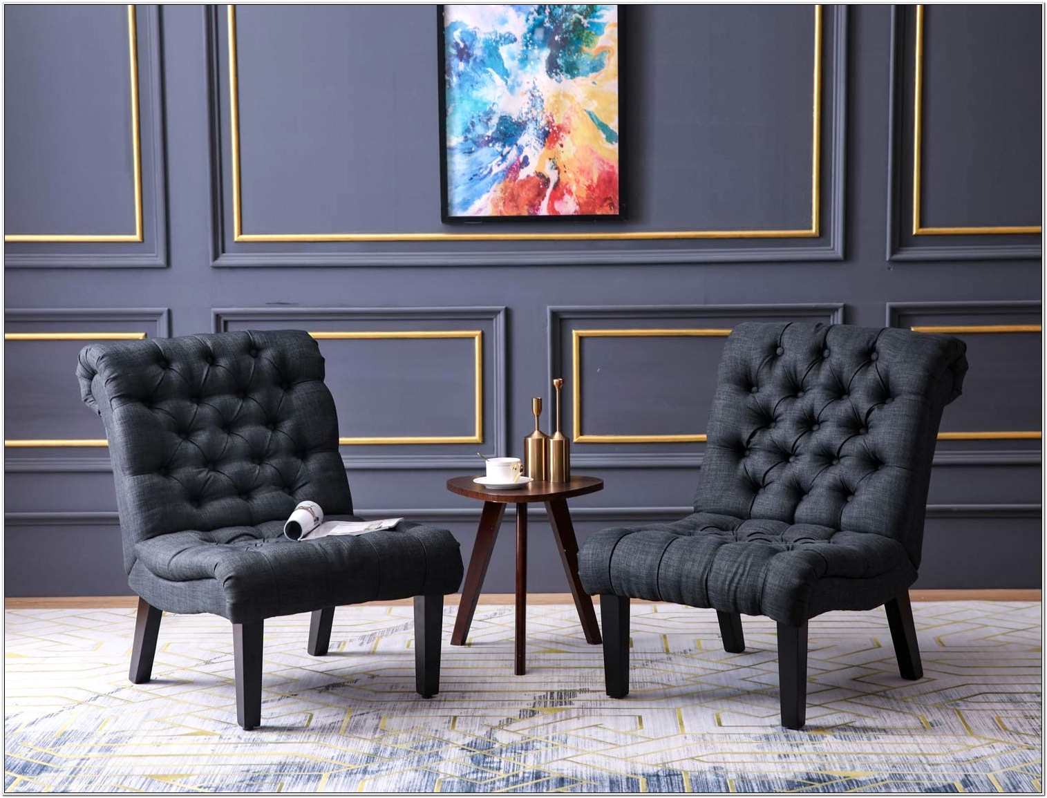 Living Room Accent Chairs Set Of 2