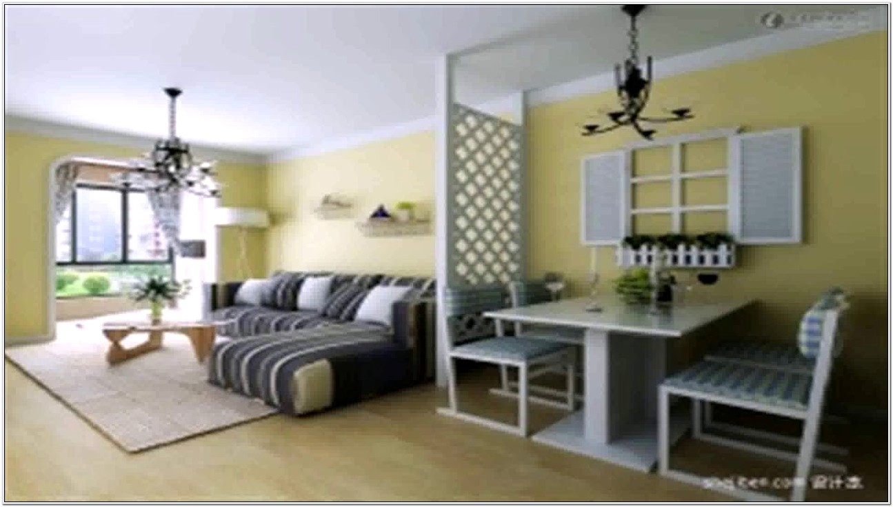 Living Room And Kitchen Division Design