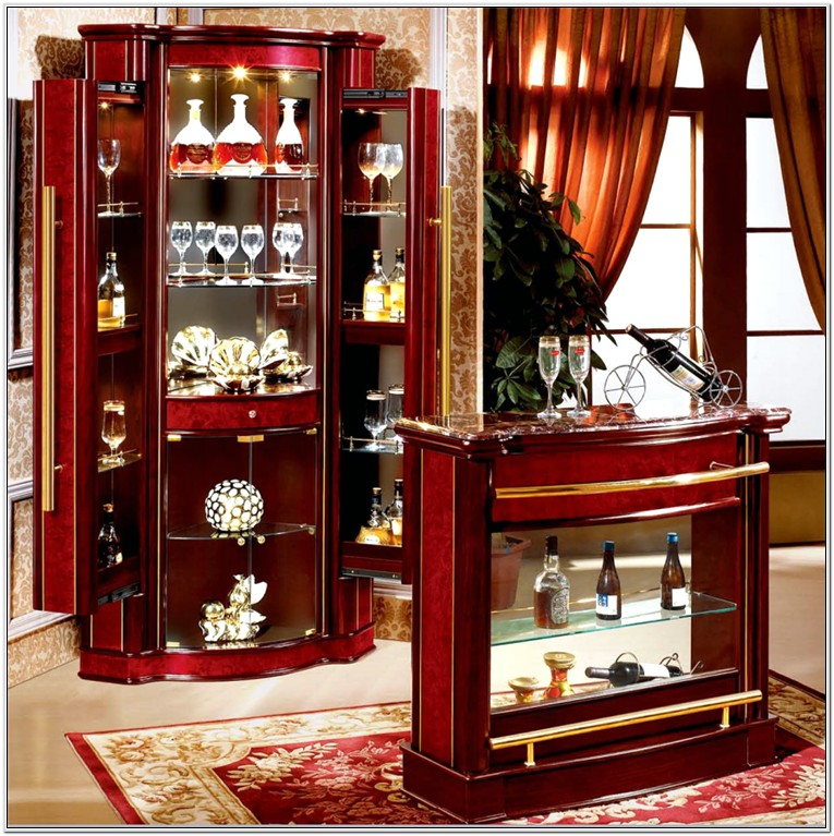 Living Room Bar Cabinet Design