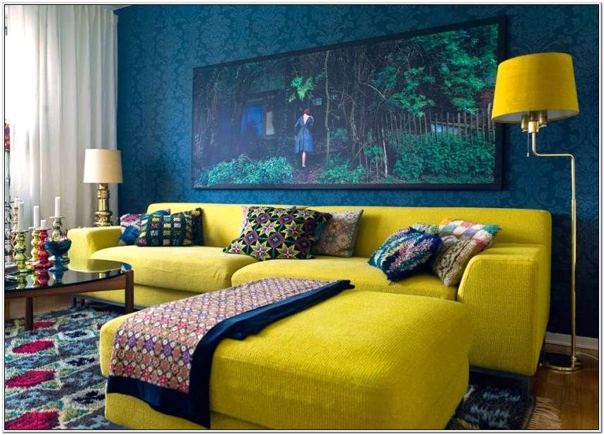 Living Room Bold Wallpaper Ideas