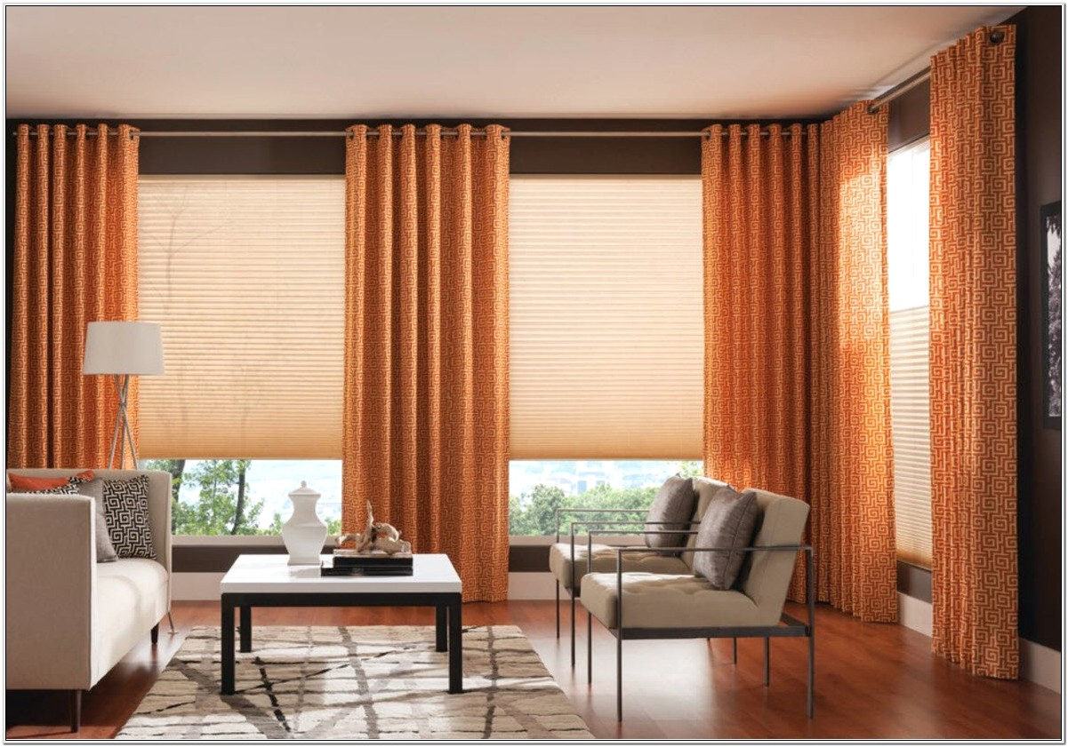 Living Room Curtain And Blind Ideas