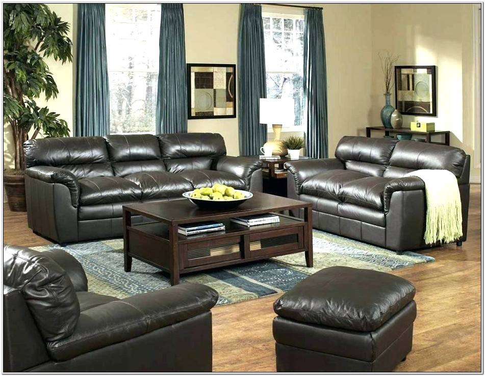 Living Room Decor Leather Couch