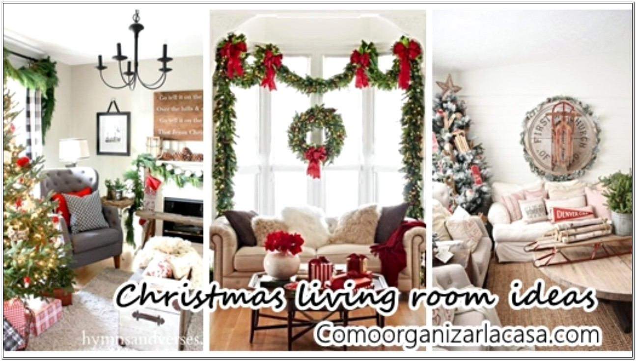 Living Room Decorating For Christmas 2016