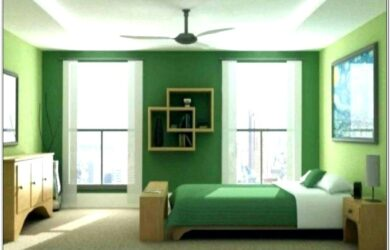 Living Room Decorating Paint Green Curtains