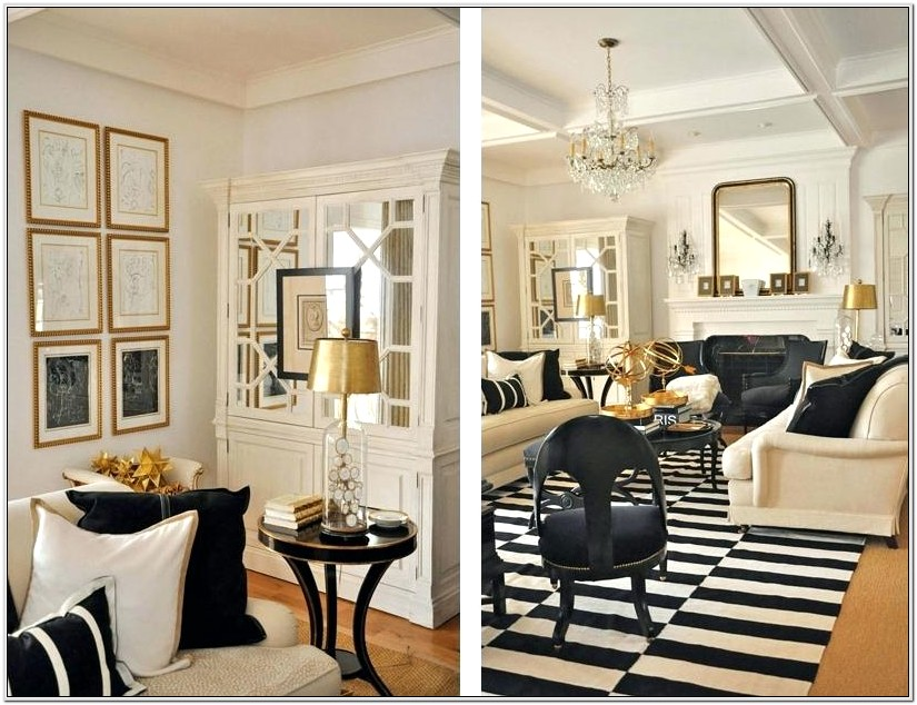Living Room Gold Accents Ideas